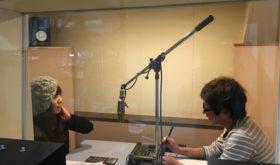 WEBラジオ「声のひろば」収録中 日盲連の橋口さんと高平