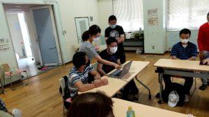 株式会社日本HPのノートパソコンを活用してZOOM講習会の様子